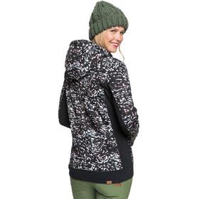 Roxy Frost Printed Fleece Top Women, true black izi